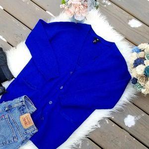 H&M royal blue boyfriend cardigan sweater